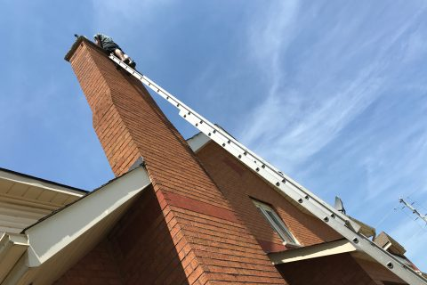 Chimney Sweeping Long Ladder